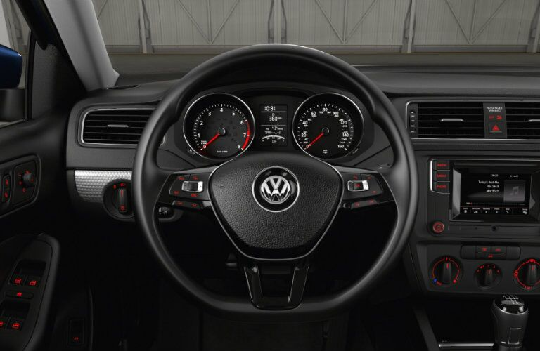 Steering wheel of the 2017 Volkswagen Jetta