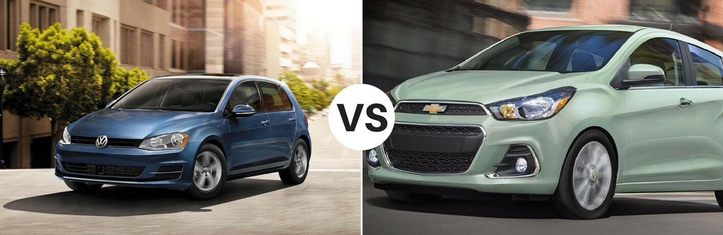 2017 Volkswagen Golf vs 2017 Chevy Spark
