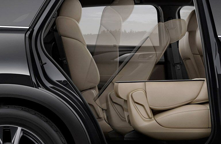 2017 mazda cx-9 fold and slide second row seats interior