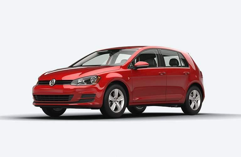 2015 Volkswagen Golf photoshoot with plain white background