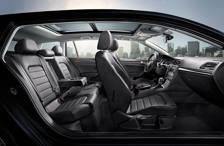 2016 volkswagen golf sportwagen interior leather seats dashboard
