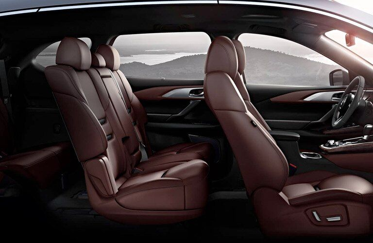 2017 mazda cx-9 interior seating capacity leather seats