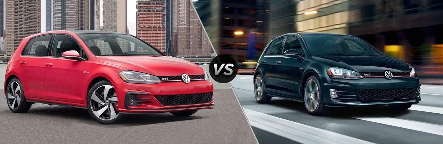 2018 Volkswagen Golf GTI vs 2017 Volkswagen Golf GTI