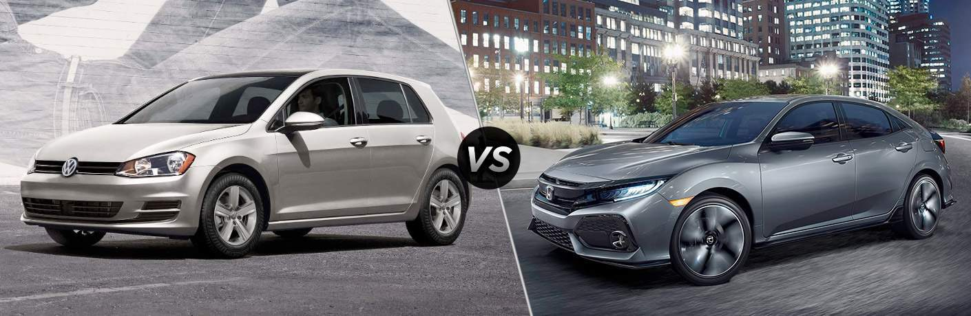 2017 Volkswagen Golf vs 2017 Honda Civic Hatchback