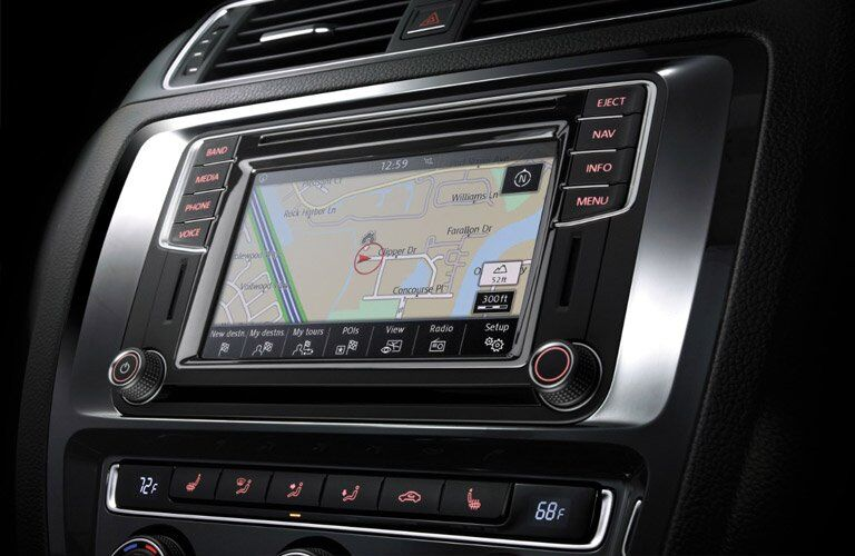 2017 vw jetta touchscreen navigation