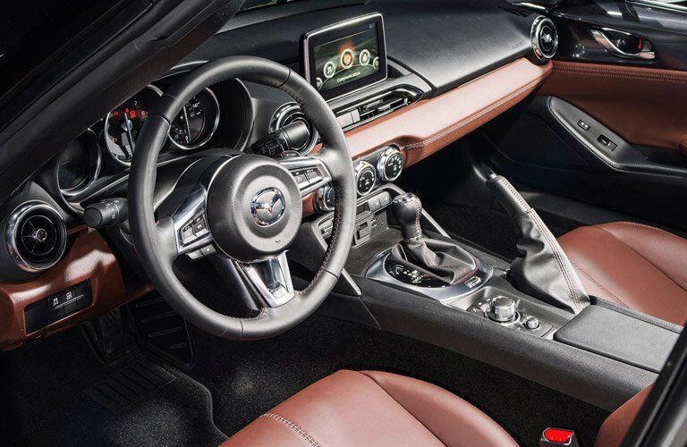 2017 mazda mx-5 miata rf interior dashboard touchscreen steering wheel