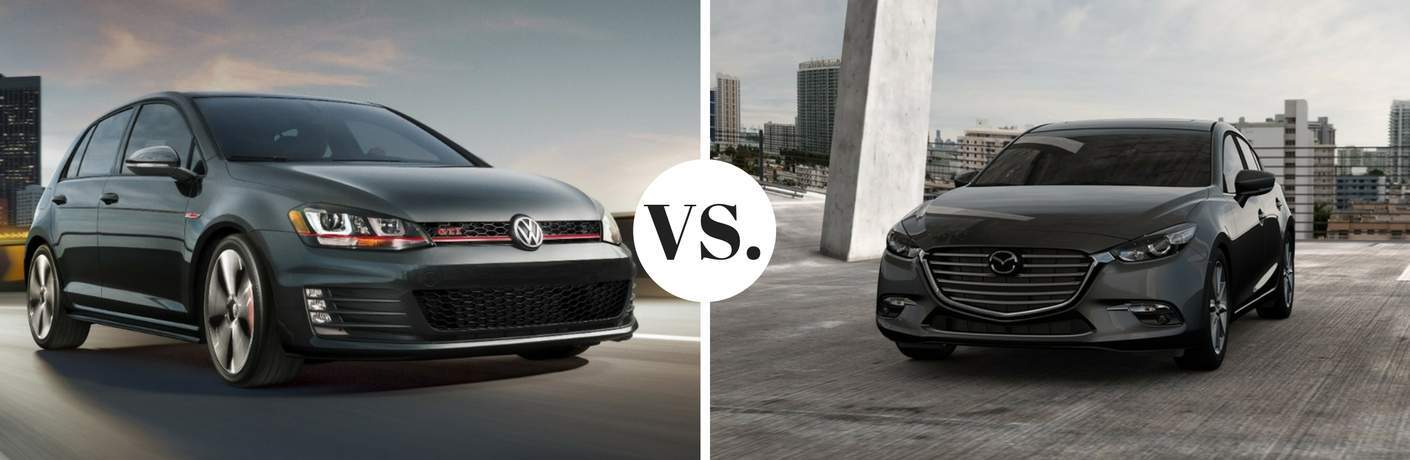 2017 volkswagen golf gti vs 2017 mazda3 5-door