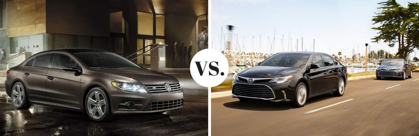 2017 Volkswagen CC vs 2017 Toyota Avalon