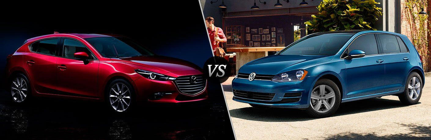 2017 mazda3 5-door vs 2017 volkswagen golf