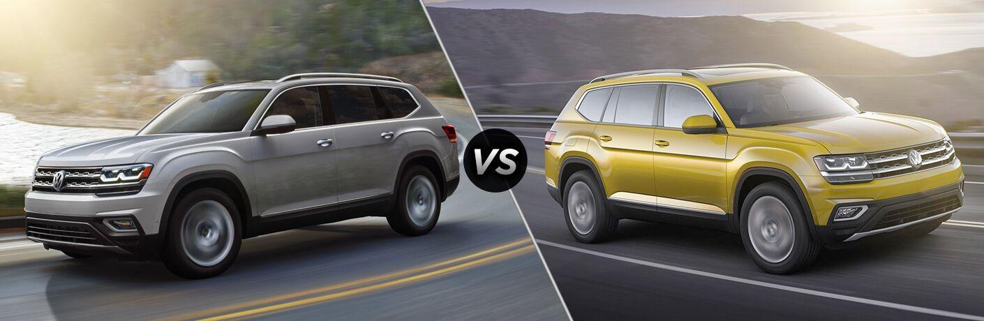 2018 Volkswagen Atlas S vs 2018 Volkswagen Atlas V6 SE