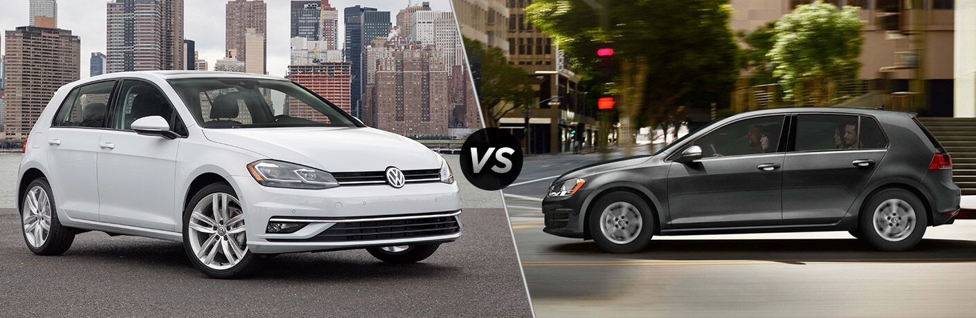 2018 Volkswagen Golf vs 2017 Volkswagen Golf