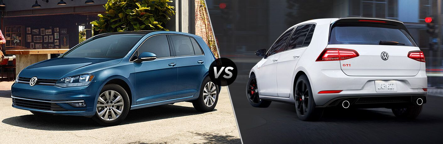 2019 Volkswagen Golf vs 2019 Volkswagen Golf GTI