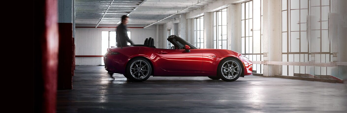 2020 Miata parked in a parking garage