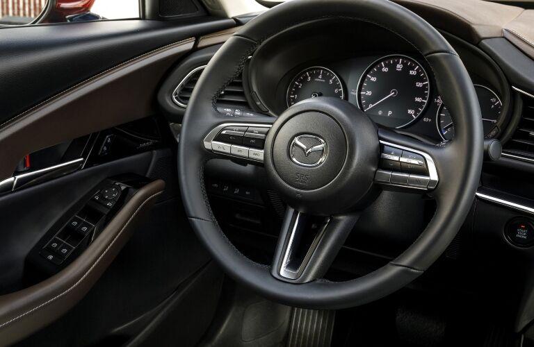 2020 CX-30 steering wheel and gauges