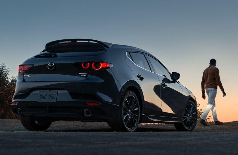 2021 Mazda3 Hatchback rear exterior view