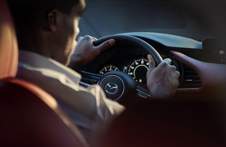 2021 Mazda3 cockpit close-up