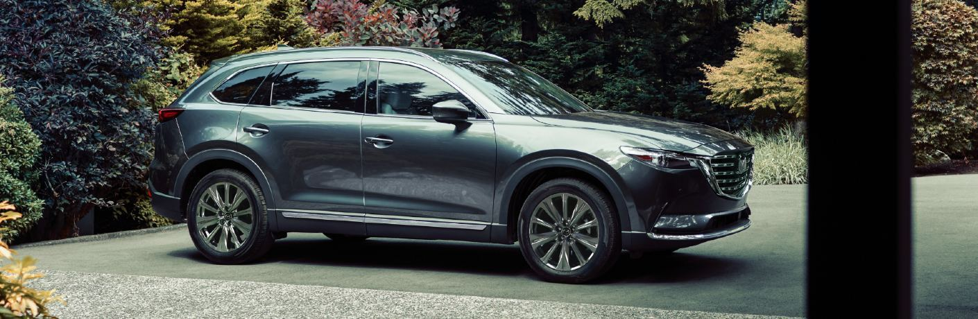 2021 CX-9 parked in garden