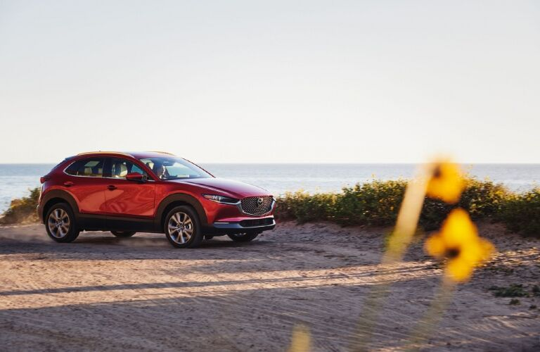 2021 CX-30 parked by waterfront