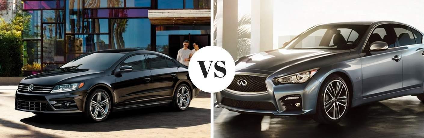 2017 Volkswagen CC vs 2017 INFINITI Q50
