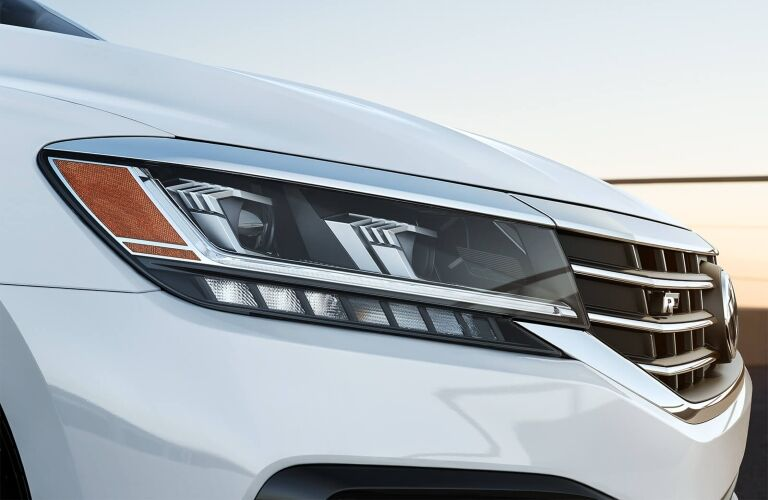 2020 Passat front headlight closeup