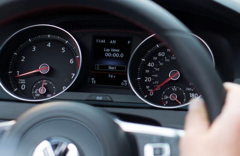 2021 Golf GTI gauge display showcase