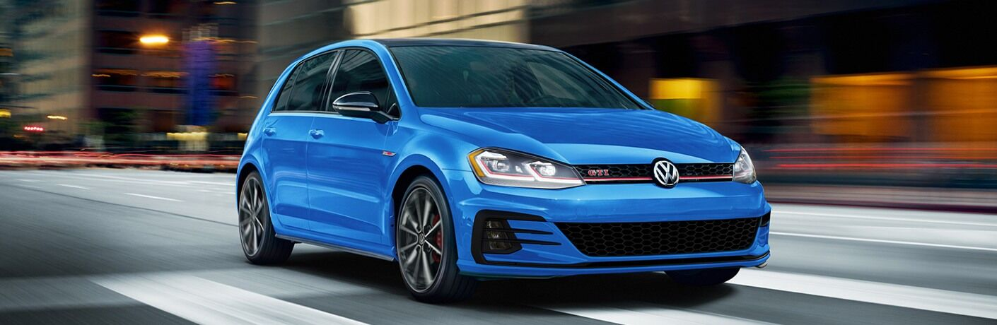 2021 Golf GTI driving through intersection