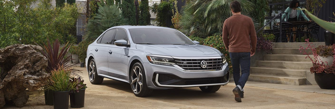 2021 Passat parked near tropical plants