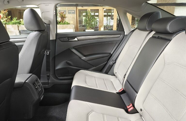 2021 Passat rear seat showcase