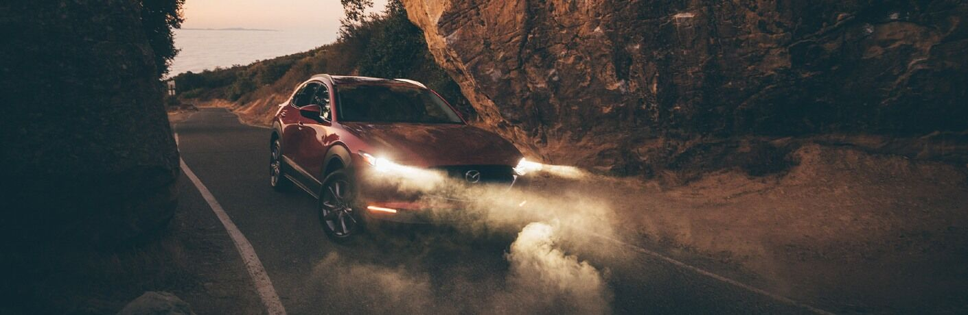2020 CX-30 parked underneath rock formation