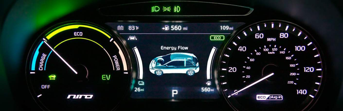 Information Display Screen in the 2018 Niro Plug-In Hybrid