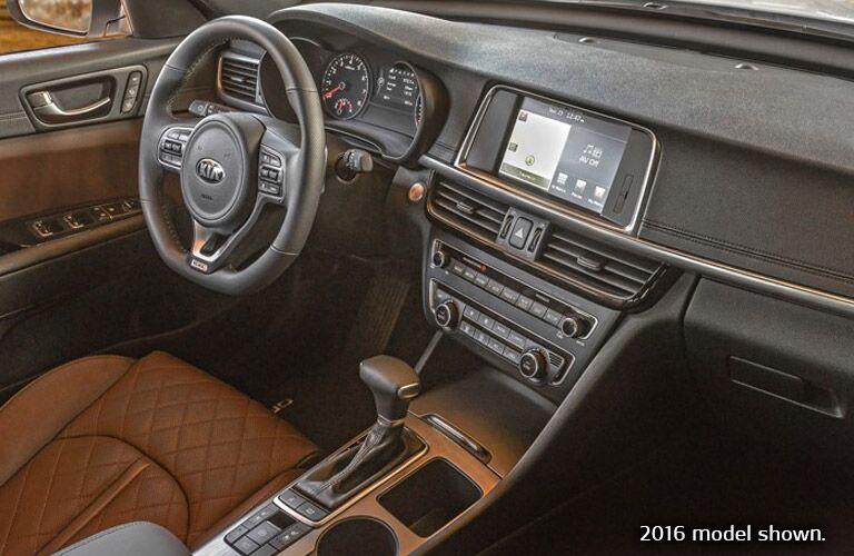 2017 Kia Optima Interior In Black And Brown