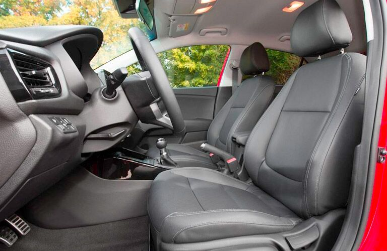 2017 Kia Rio Interior View of Front Seats in Black