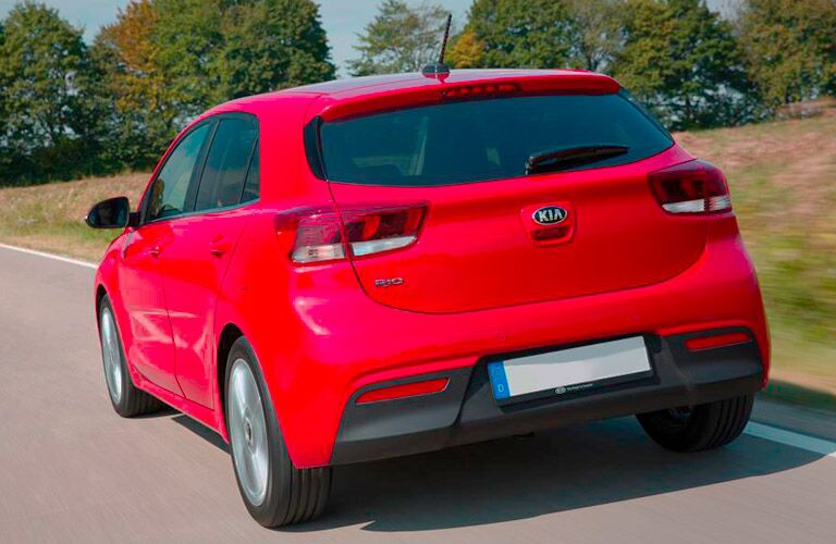 2017 Kia Rio Exterior View of the Back in Red
