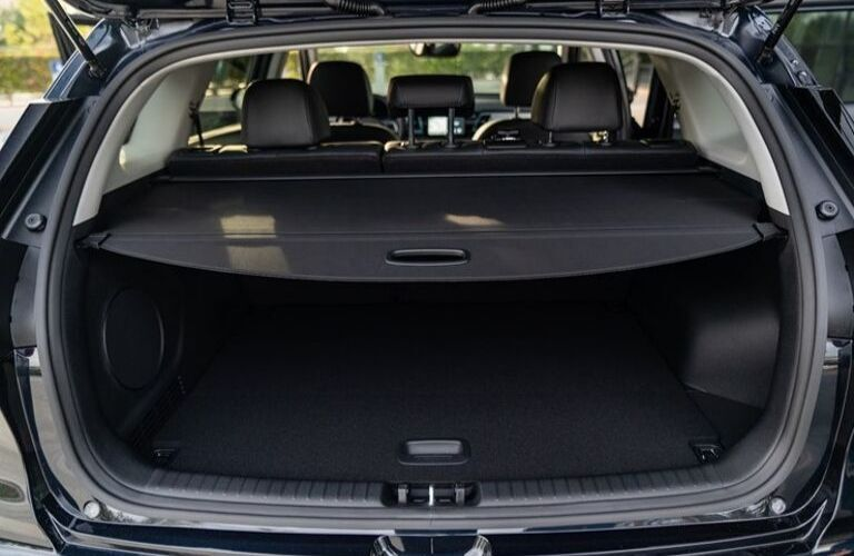 Interior view of the cargo area inside a 2020 Kia Niro EV