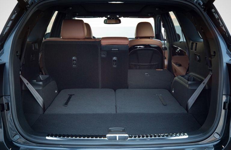 Interior view of the rear cargo area inside a 2020 Kia Sorento