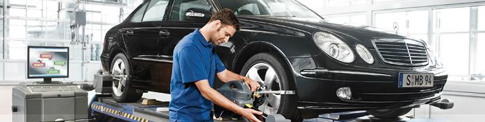 Mercedes-Benz Engineer Repairing Alignment