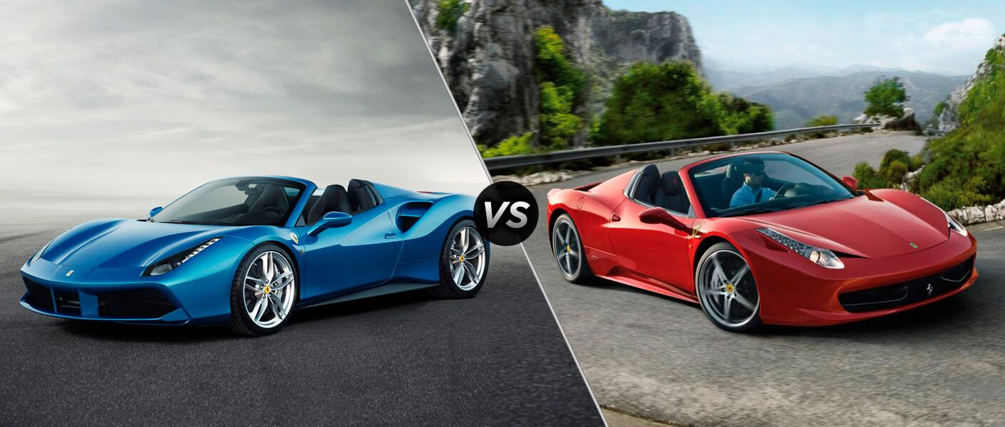 2016 ferrari 488 spider vs 458 spider. Black Bedroom Furniture Sets. Home Design Ideas
