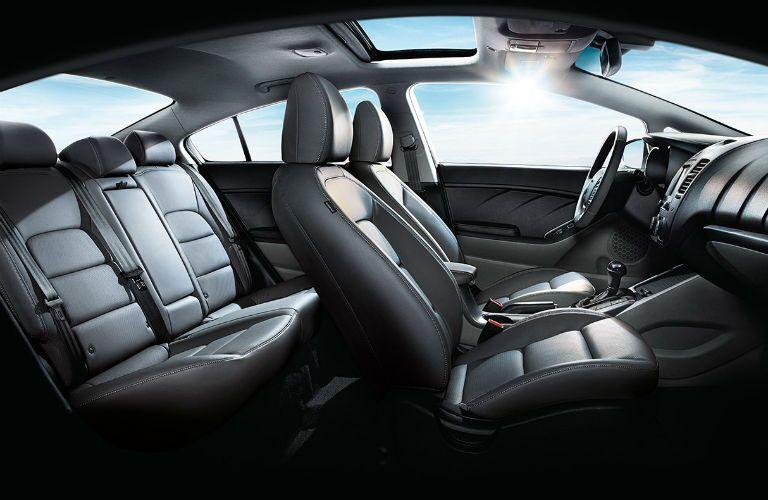 Seats inside the 2018 Kia Forte