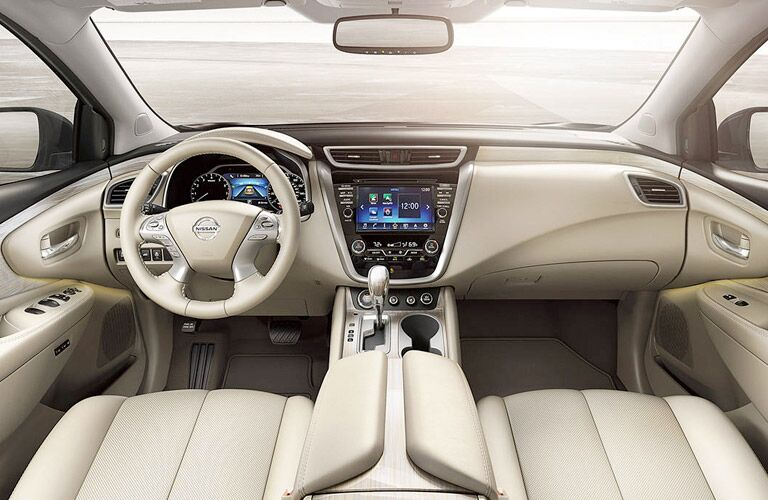2017 Nissan Murano White Leather Front Seat Interior and Dashboard