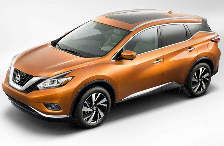 Orange 2017 Nissan Murano Front and Side Exterior