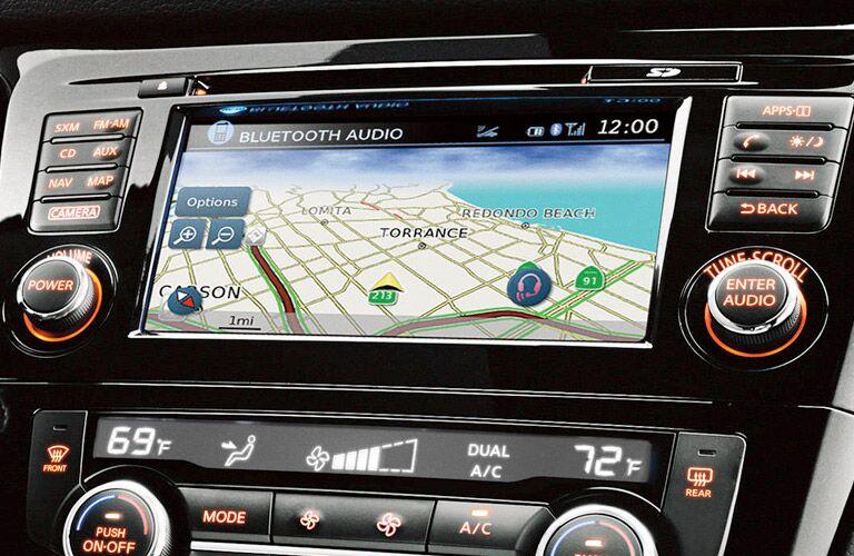 Close Up of 2017 Nissan Rogue Sport Navigation Screen