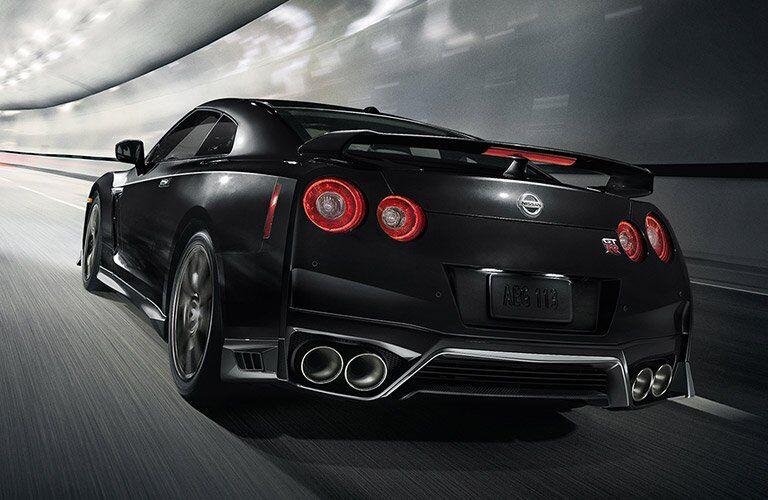 Black 2017 Nissan GT-R Rear Exterior