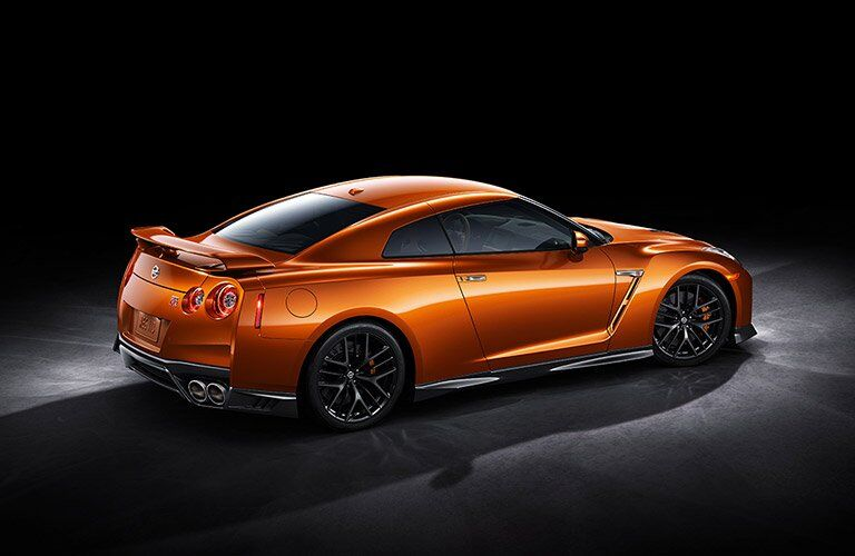 Orange 2017 Nissan GT-R Side Exterior