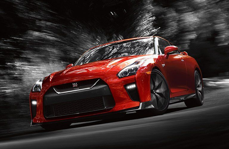 Red 2017 Nissan GT-R Front Exterior