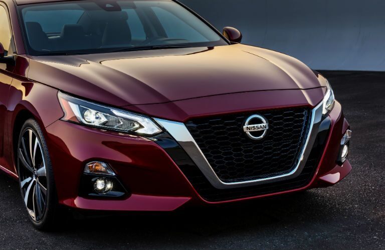 A photo of the front end of the 2019 Nissan Altima.