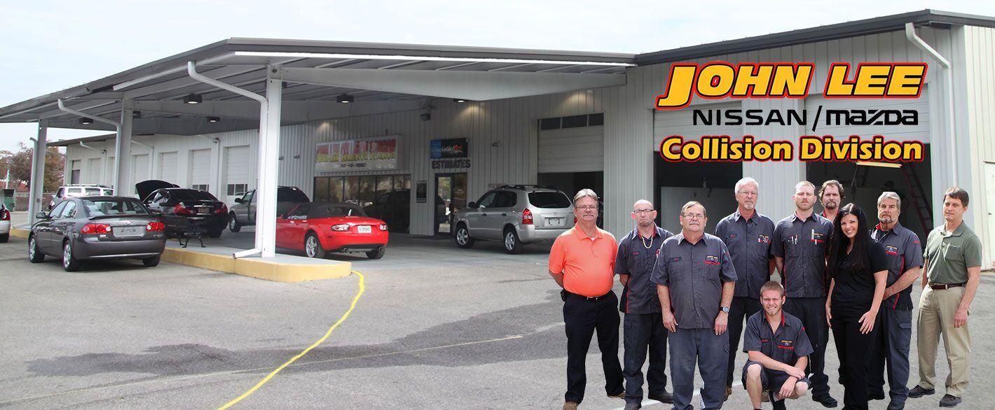 collision repair for cars and trucks at john lee nissan in panama city. Black Bedroom Furniture Sets. Home Design Ideas