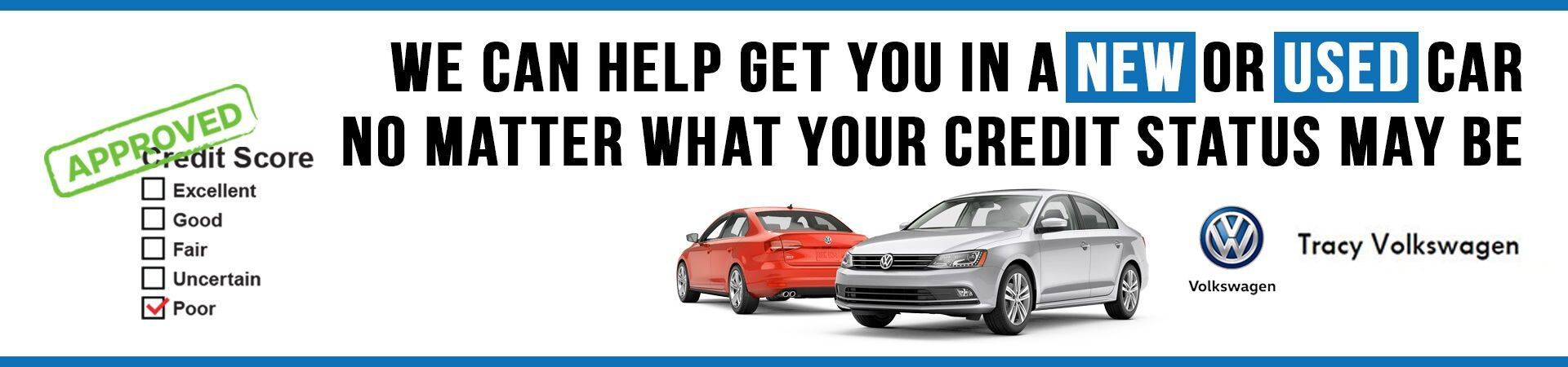 Credit Loans at Tracy Volkswagen
