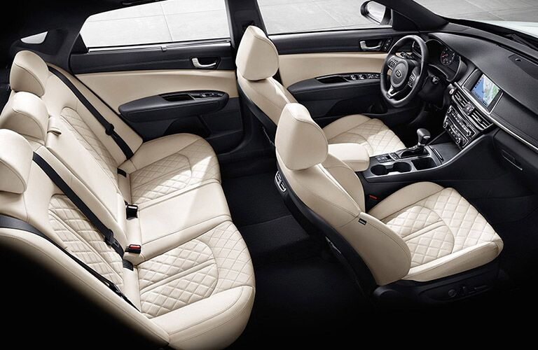 2016 Kia Optima white seats