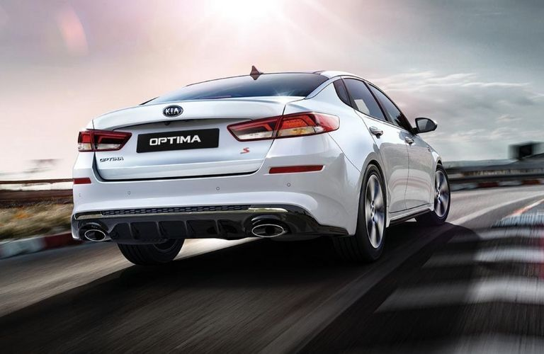 2020 Kia Optima driving on road_o
