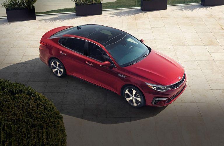 2020 Kia Optima parked outside top view